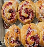 What to bake this weekend: Raspberry and lemon swirl rolls