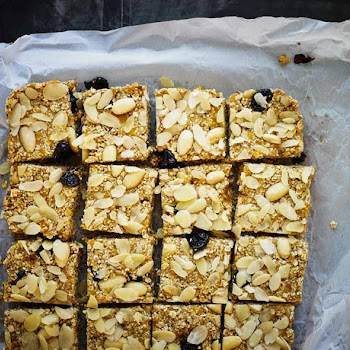 cherry and almond flapjacks