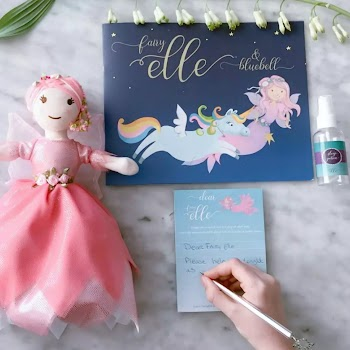 Fairy Elle comes with a notepad to let her know how you're feeling and by writing it helps children work through thoughts.