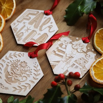 Christmas decorations designed by Irish artists