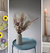 Pressed, dried and captured in resin; the best dried flowers for your home